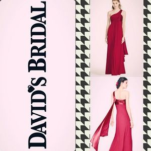 Apple red floor length gown
